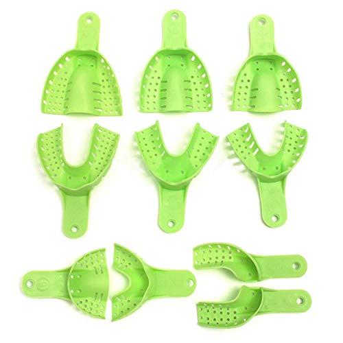 Aprodite Dental Supply Impression Trays Autoclavable Central 10 stuks/doos Licht Groen
