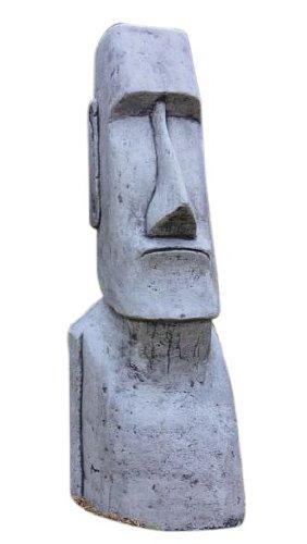 Osterinsel Kopf, Osterinselkopf, Figur aus Steinguss, Frostfest