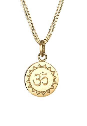 Elli Halskette Damen Om Mantra Yoga in 925 Sterling Silber vergoldet