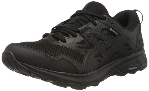 ASICS Womens Gel-Sonoma 5 G-TX Trail Running Shoe, Black, 40.5 EU