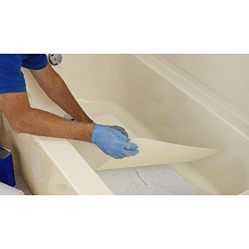 Tub/Shower Floor Repair Kit, 14-1/2 in W x 32 in L, Bone