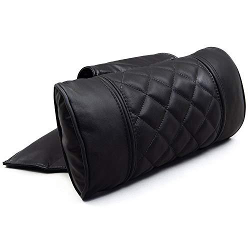 Octane Seating Recliner Pillow | Diamond Stitch | Black Leather