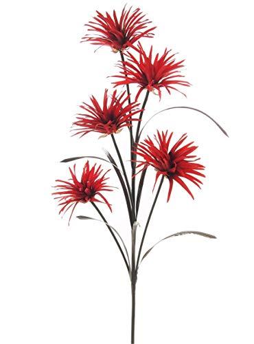 Phoenix Tige en fleurs artificielles en soie avec 5 têtes et pieds réglable – QUALITÉ Fleurs Homestreet
