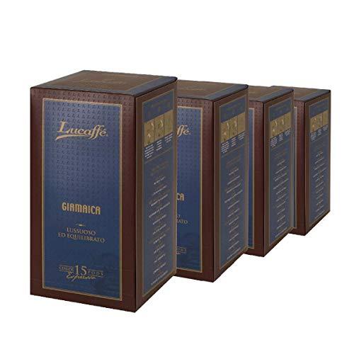 LUCAFFÈ JAMAICA Blue Mountain, Ø44mm Kaffeepads, Ese Pods, Packung mit 60 kompostierbaren Papierkapseln, hochwertiger Jamaika-Kaffee, Zitrusnoten, niedriger Koffeingehalt