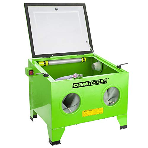 OEMTOOLS 24815 Bench Top Abrasive Blast Cabinet | Removes Rust, Grime, Paint, & More | Great for Automobile Rebuilders or Anyone Restoring Antique Metal Objects | Inexpensive & Efficient