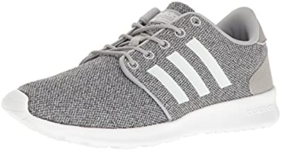 adidas Women's CloudfoamQT Racer Xpressive-Contemporary CloudfoamRunning Sneakers Shoes, clear onix/white/clear onix, 9 M US