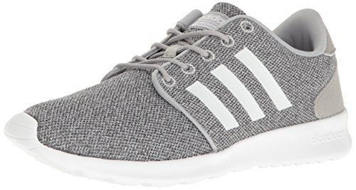 adidas Women's CloudfoamQT Racer Xpressive-Contemporary CloudfoamRunning Sneakers Shoes, clear onix/white/clear onix, 10 M US