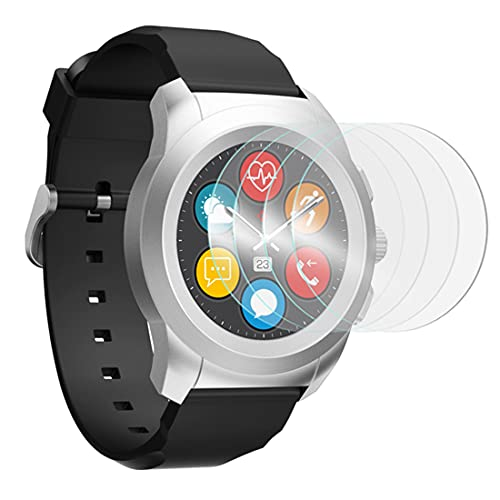 [Pack x4] Protector de pantalla de vidrio Nano flexible, dureza 9H, ultrafino 0,2 mm y 100% transparente para Mykronoz ZeRound 3 Lite reloj inteligente