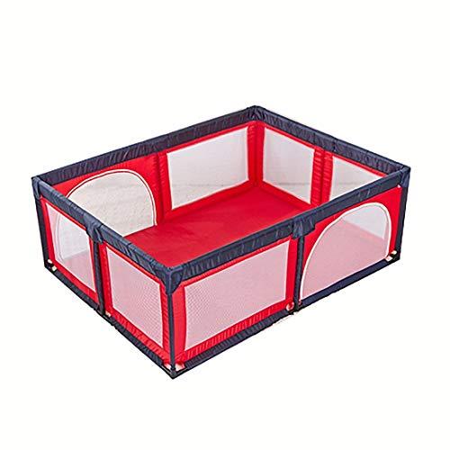 X-L-H Protection Des Enfants Infantile Clôture Rouge Gris Portable Enfants Intérieur Barrière De Sécurité Aire De Jeux (Couleur : Red)