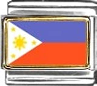 Philippines Photo Flag Italian Charm Bracelet Jewelry Link