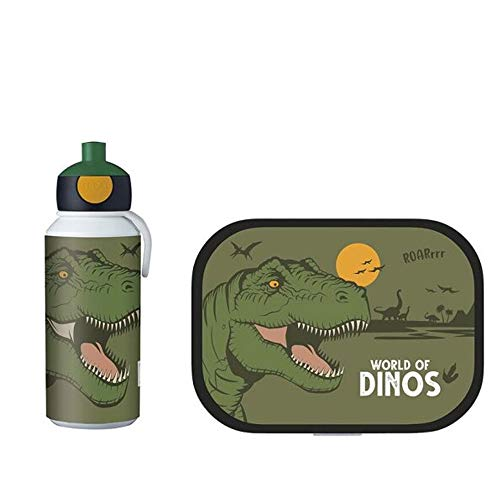 Mepal - Campus Set Brotdose + Trinkflasche Pop-Up (Dino)