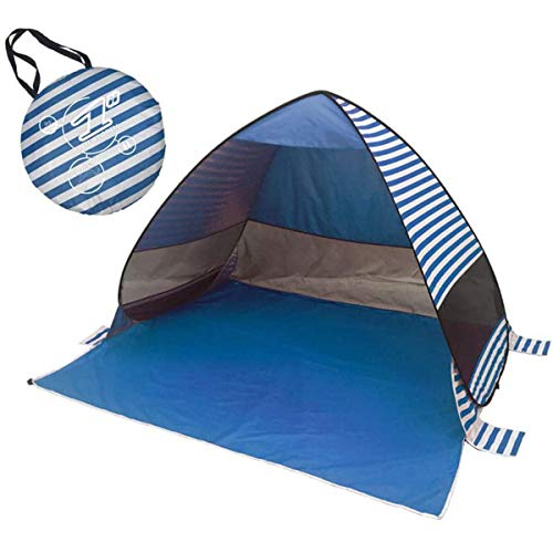 Siunwdiy Beach Tent Beach Shade UV Resistant Instant Portable Tent Awning Changing Room Camping Beach Caravan Picnic Fishing Pop Up Baby Beach Tent Suitable for 2 3 People,Blue