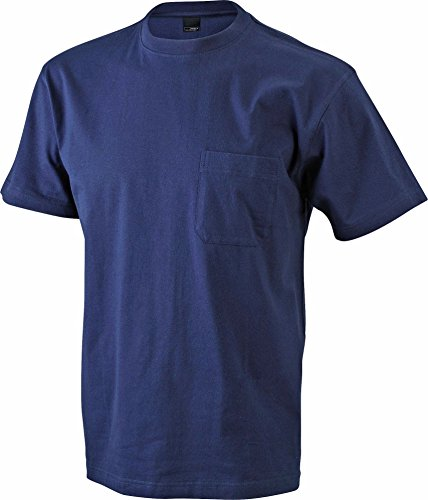 Men's Round-T Pocket/James & Nicholson (JN 920) S M L XL XXL 3XL, navy, S