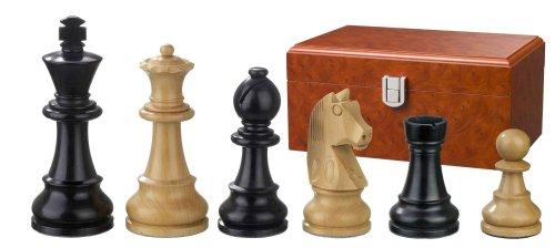 Philos 2126 Ludwig XIV - Piezas de ajedrez (Altura del Rey 110 mm, Pesadas, en Caja), Color Blanco y Negro