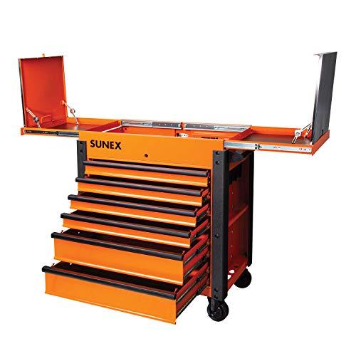 Sunex Tools (SUN8035XTFDOR) 6 Drawer Slide Top Service Cart-Orange