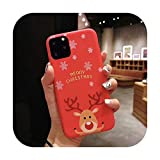 3D Doll Cartoon Christmas - Carcasa para iPhone 12 11 Pro Max XR XS Max 7 8 Plus X Candy Soft Back Cover C-for 7 Plus o 8 Plus