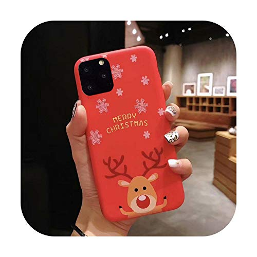 3D Doll Cartoon Christmas Santa Reindeer Tree Phone Case For iPhone 12 11 Pro Max XR XS Max 7 8 Plus X Candy Soft Back Cover-c-For iPhone 12 (6.7)