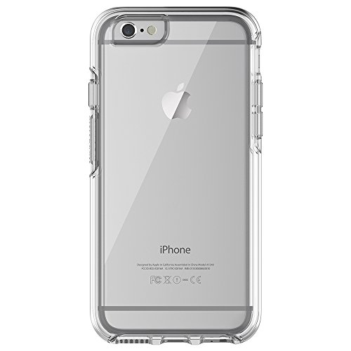 OtterBox Symmetry clear hoch-transparente sturzsichere Schutzhülle (geeignet für Apple iPhone 6/6s) transparent