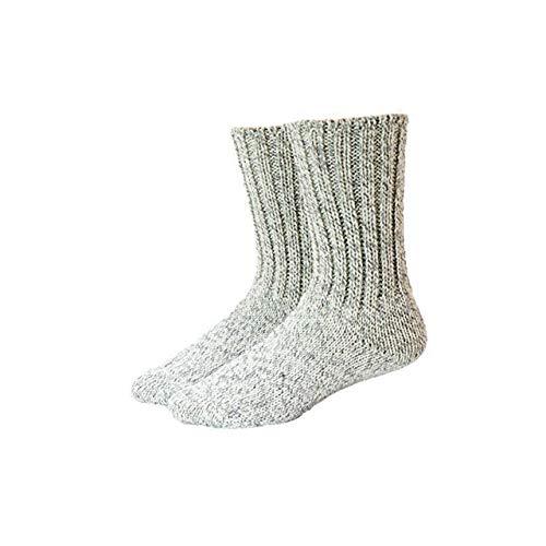 Shimasocks Wollsocke Norweger Tweed super warm Outdoor, handgekettelt, Farben alle:anthrazit/rohweiß, Größe:43/44