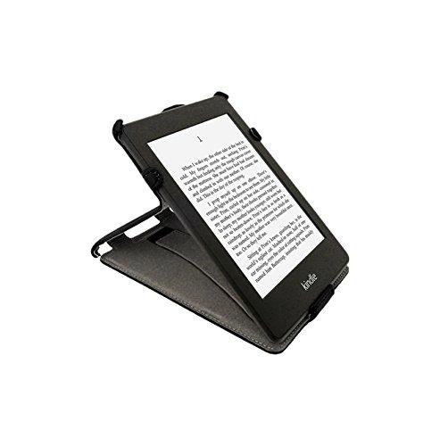igadgitz PU Leder Etui Hülle mit Sleep/Wake Funktion/Integrierte Handschlaufe für Amazon Kindle Paperwhite 2015/2014/2013/2012 schwarz
