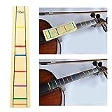 Marcador de posición de dedo para violonchelo a prueba de agua, marcador de dedo para violonchelo etiqueta etiqueta engomada para diferentes tamaños para violonchelo (1/8)