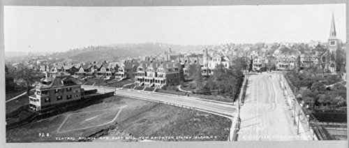 1905 Photo New Brighton, Staten Island, N.Y. [Bird's-eye view]: Central Avenue and Fort Hill (The Best Furniture Shop New Brighton)