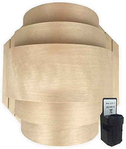 SudoreWell® Sauna Holzblendschirm Set groß für Saunaleuchte + Saunalicht inklusive Leuchtenfassung E14