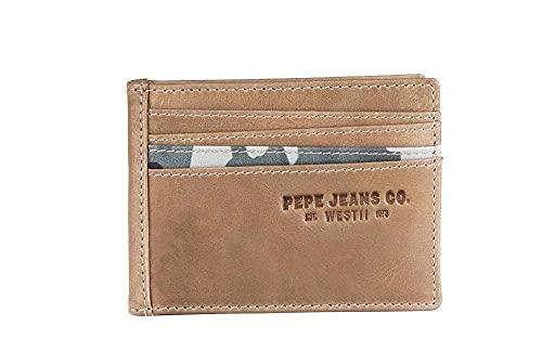Pepe Jeans Delta Tarjetero Marrón 10x7,5 cms Piel