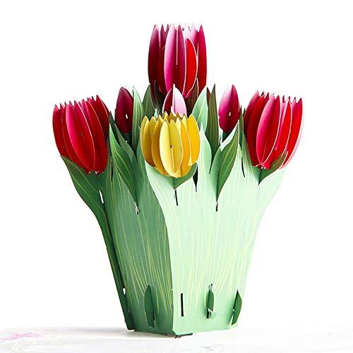 johonuka - Cards & Invitations - 3d Tulip Pop Up Flower Card Christmas Gift With Envelope 6a0646 - Oscar 3d Gift Pop Card Flower Card The Tulip Pop Life Holder Plant Mom Fashion Bulb 90 Bonsa