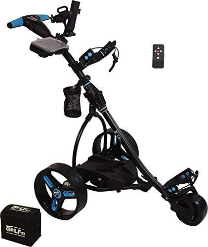Elektro Golf Trolley PGE 2.0 Funkfernbedienung, 400W, Akku 33Ah, Farbe schwarz