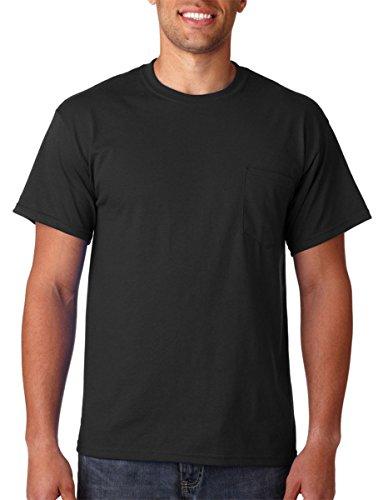 Gildan Mens 6.1 oz. Ultra Cotton Pocket T-Shirt G230 -BLACK M
