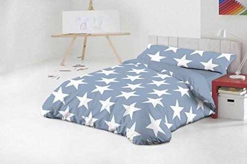 Funda Nórdica Javier Larrainzar Star Azul Cama 90 cm. (3 piezas)