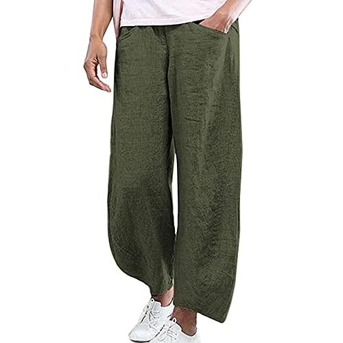 N\P Ropa de las mujeres más el tamaño de los pantalones sueltos de la pierna ancha Vinatge Casual tobillo