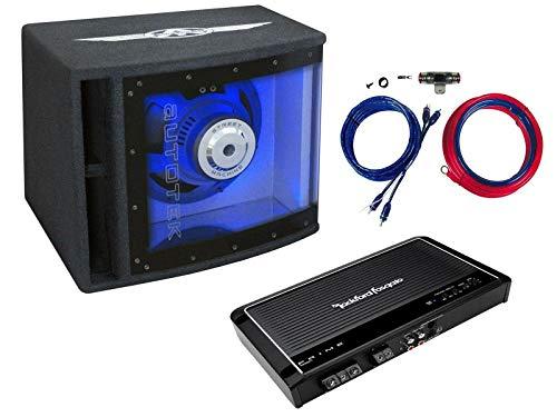 Autotek Rockford Fosgate Basspaket Set 25cm Subwoofer Mono Verstärker Kabelset 500 Watt