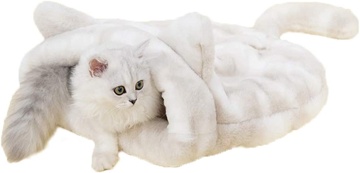 WANGXIAOLIN Cat Sleeping Bag, Cat Litter, Closed Cat Bed, Washable, Warm in Winter, Thick and Soft