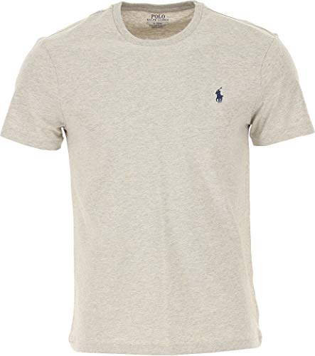 Polo Ralph Lauren tee-Shirts Camiseta, Gris (Grey Heather A0004), M para Hombre