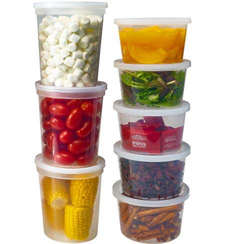 DuraHome Deli Containers with Lids for Food Storage Leakproof  46 Sets BPAFree Plastic Microwaveable Clear Food Storage Container Premium Quality Freezer amp Dishwasher Safe Mixed  16oz amp 32oz