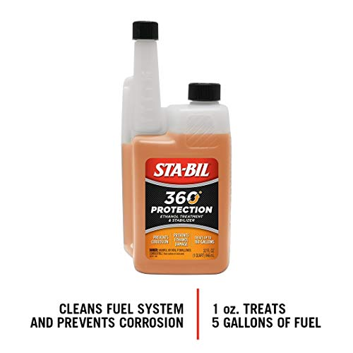 STA-BIL (22275) 360 Protection - Ethanol Treatment And Fuel Stabilizer - Prevents Corrosion - Prevents Ethanol Damage - Cleans The Fuel System - Treats Up To 160 Gallons, 32 fl. oz.