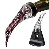 Decantador de Vino Botella de vino vertedor Accesorios Meltset 1PC acrílico aireación del vino rojo de la jarra de vino vertedor Nueva portátil aireador de vino