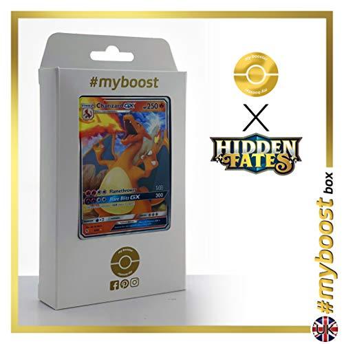 Charizard-GX (Dracaufeu-GX) 9/68 - #myboost X Sun & Moon 11.5 Hidden Fates - Coffret de 10 Cartes Pokemon Aglaises