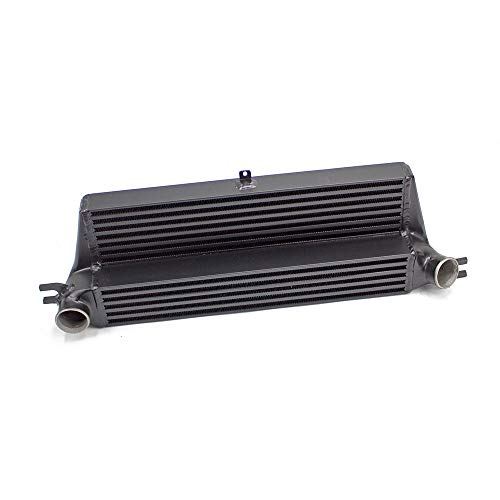 Rev9 ICK-074_1 Front Mount Intercooler Upgrade Kit, FMIC Bolt On Performance, Black, compatible with Mini Cooper S Clubman (R55/R56) 2009-14
