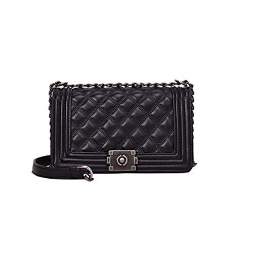 TTZZCrossbody Bags For WomenHandbags elevata a di lusso della qualità Donne Borse Borsa a tracolla doppia nero 26 * 26 * 16cm