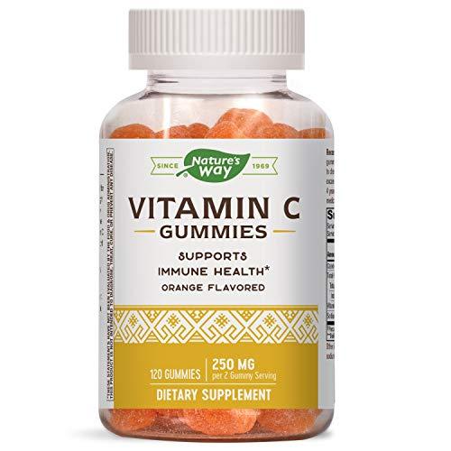 Nature's Way Vitamin C Gummies, For Immune Health*, 250 mg per 2 Gummy Serving, Orange Flavored, 120 Vegan Gummies