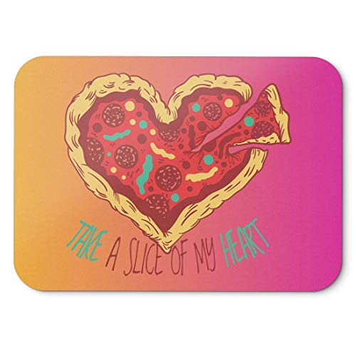 BLAK TEE Pizza is the Love Mouse Pad 18 x 22 cm in 3 Colours Pink Yellow