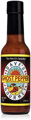 Dave's Gourmet Ghost Pepper Jolokia Hot Sauce, Pack of 1