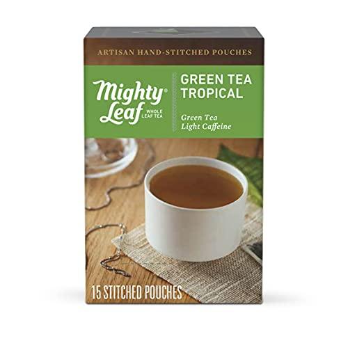 Mighty Leaf Tea, Green Tea Tropical - Green Whole Leaf Tea - 15 Tea Bags, Light Caffeine (1 Box of 15 Tea Bags)