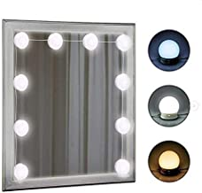 Vanity Mirror Light Kit IMAGE 12 LED Light Bulb Hollywood Style Vanity Mirror Light Kit 3.3M 10.8Feet Dimmable Color Temperature Adjustable Lighting Fixture Strip with USB Cable (Mirror Not Included)