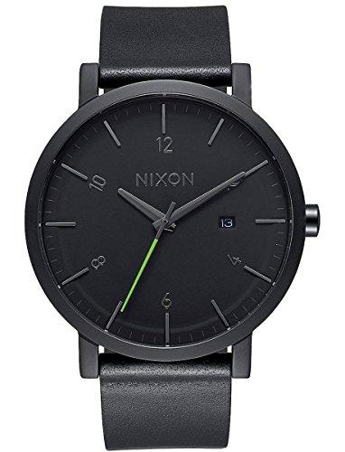 Nixon Herren Analog Quarz Uhr mit Leder Armband A945-001-00