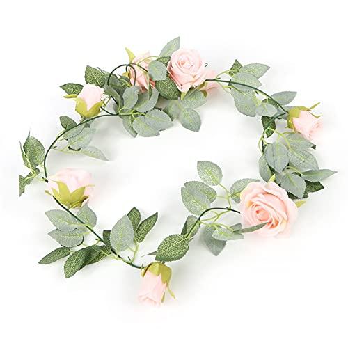 KUIDAMOS Plantas De Enredaderas De Flores Falsas, Enredaderas De Flores Ampliamente Utilizadas para La Decoración De La Habitación del Arte del Arte del Jardín del Banquete De Boda(Rosado)