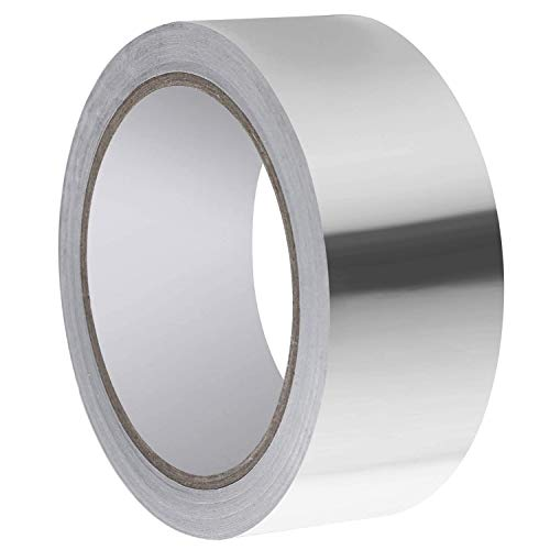 Aluminium Foil Adhesive Duct Tape, Silver Aluminium Foil Adhesive Tape Perfect for HVAC Duct,Pipe, Insulation and More 2